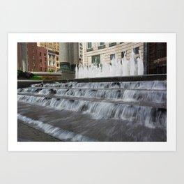 Waterfall in New York City Art Print