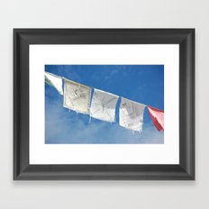 Flags in the Breeze Framed Art Print