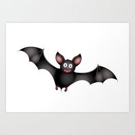 cartoon bat Art Print