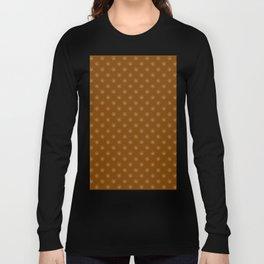 Tan Brown on Chocolate Brown Snowflakes Long Sleeve T-shirt