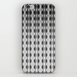 Wavy Verticals Black to White iPhone Skin