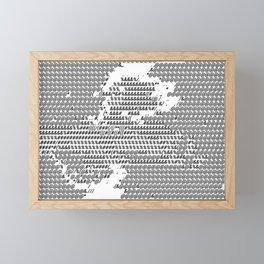 ASCII Art, line girl. TELETEXT TEXT ARTWORK. Framed Mini Art Print