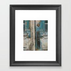 old door / ripley ontario Framed Art Print