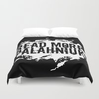 chuck Duvet Covers featuring Read More Palahniuk  |  Chuck Palahniuk by Silvio Ledbetter