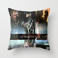 metal gear Throw Pillows featuring metal gear solid V  , metal gear solid V  games, metal gear solid V  blanket, by Eirarose
