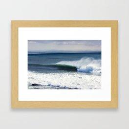 Jeffreys Bay wave at Super Tubes Framed Art Print