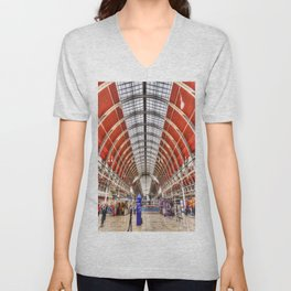 Paddington Station London Unisex V-Neck