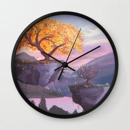 Floating islands Wall Clock