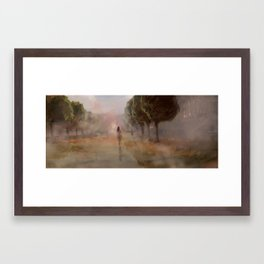 Along the Edge: Gardens of the City Hall Framed Art Print