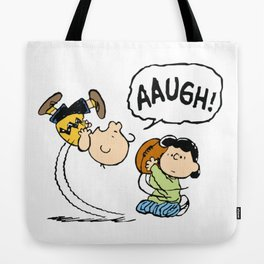 Charlie Brown Foot Ball Tote Bag