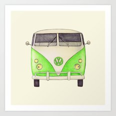 VW Type 2 Art Print