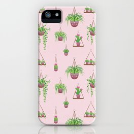 Mother, Macramé I? - Hanging Plants on Pink iPhone Case