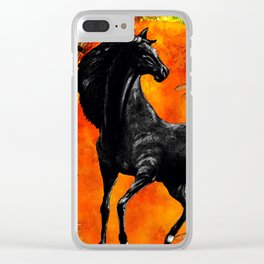 HORSE MOON AND DRAGONFLY VISIONS Clear iPhone Case