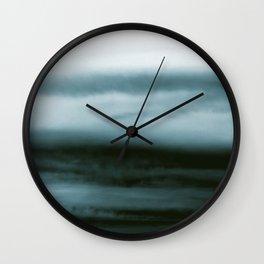 WHITE & BLUE & BLACK TOUCHING #4 #abstract #decor #art #society6 Wall Clock