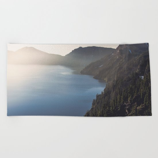 First Light at the Lake Beach Towel