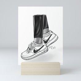 Sneaker illustration Mini Art Print
