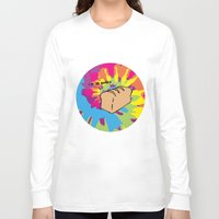 bread Long Sleeve T-shirts featuring Baked bread by Little Holly Berry