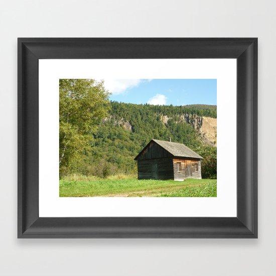Woodcabin Framed Art Print