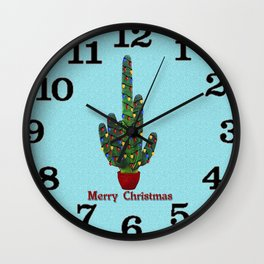 Southwest Christmas Tree Wall Clock
