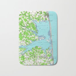 Vintage Rehoboth & Bethany Beach DE Map (1938) Bath Mat