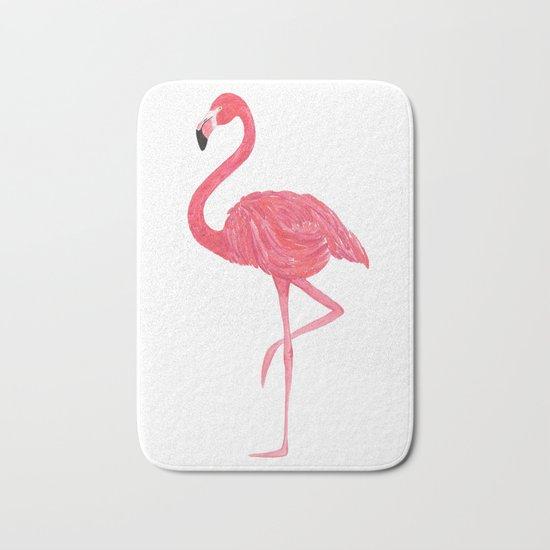 Flamingo fuchsia flap Bath Mat