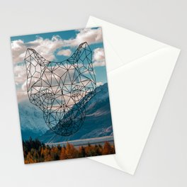 Wolf nature mountain Stationery Cards