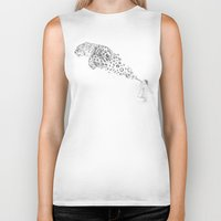 child Biker Tanks featuring Bubbles the Snow Leopard by Darel Seow