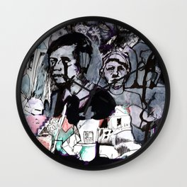 The Purple Mercury People Wall Clock