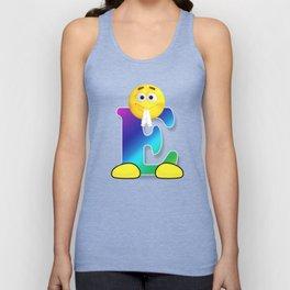 Letter E Alphabet Smiley Monogram Face Emoji Shirt for Men Women Kids Unisex Tank Top
