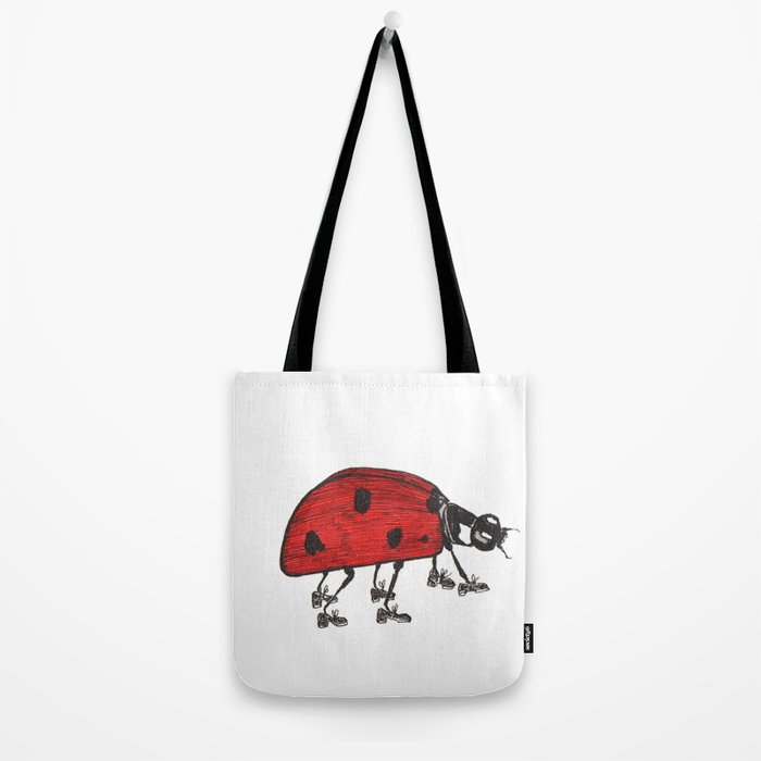 Ladybug Wearing Tap Shoes Gotta Dance Tote Bag
