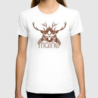 maine T-shirts featuring Backwoods Maine by One Giant Eye