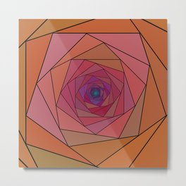 swirling pentagon 1 Metal Print