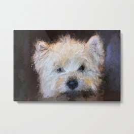 Patiently Waiting West Highland Terrier Metal Print