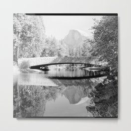 Sentinel Bridge, Spanning Merced River on Sentinel Bridge Crossover Road, Yosemite Village, Mariposa Metal Print