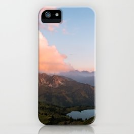 Mountain lake in Germany with Moon - landscape photography iPhone Case