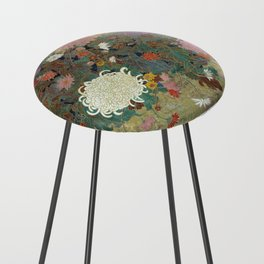 flower【Japanese painting】 Counter Stool