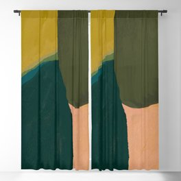 The Colliding Of Two Greens Blackout Curtain