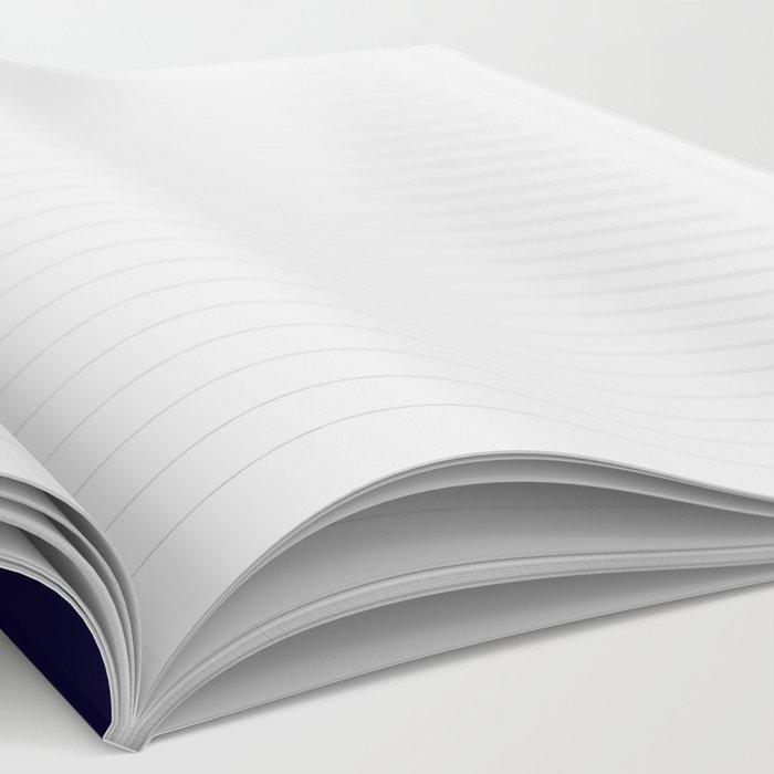 Modern navy blue white faux gold glitter brushstrokes Notebook