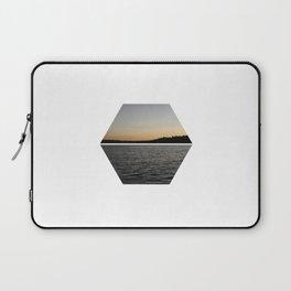 Geometric Lake Sunset Laptop Sleeve