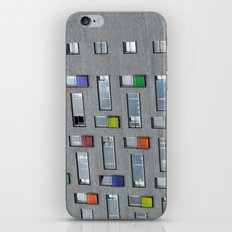 Coloured doors iPhone & iPod Skin
