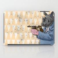 gangster iPad Cases featuring Gangster Rhino by Ichorteeth