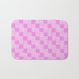 Interpretive Weaving (Raspberry Delight) Bath Mat