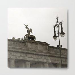 Brandenburg Gate and Quadriga of Berlin Metal Print