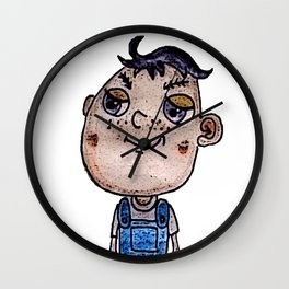 Eggplant Head Boy Wall Clock