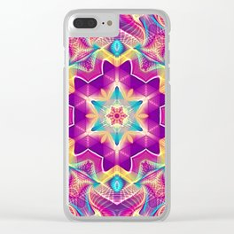 Flower Of Life Mandala (Blossoming Soul) Clear iPhone Case