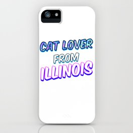 Dog Lover From Illinois iPhone Case