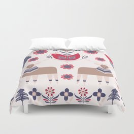 Scandinavian Winter Pattern Beige #society6 #buyart Duvet Cover