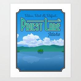 Landmarks of Life: Priest Lake, Idaho Art Print