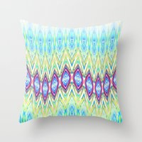 band Throw Pillows featuring Diamond Band  by Casey