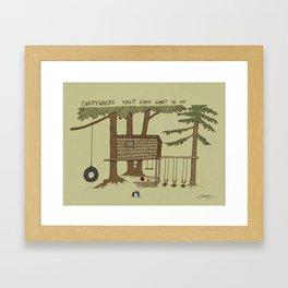 Tree Fort Framed Art Print